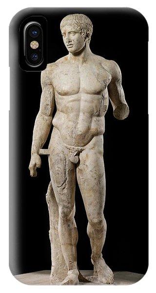 Greece iPhone X Case - The Doryphoros Of Polykleitos by Roman School