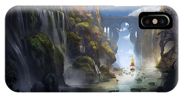 Dragon iPhone Case - The Dragon Land by Kristina Vardazaryan