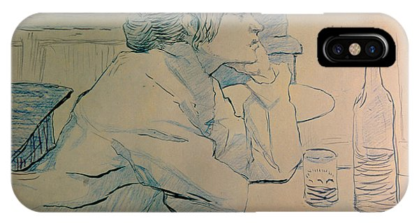 Alcoholism iPhone Case - The Drinker Or An Hangover by Henri de Toulouse-lautrec