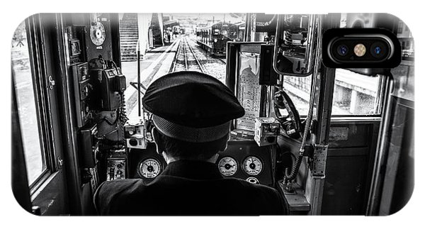 Railroad Station iPhone Case - The Driver by Marco Tagliarino