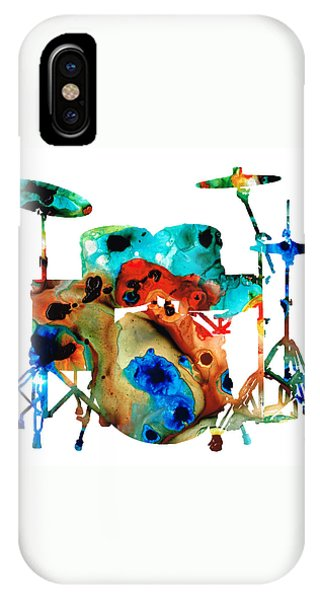 Music iPhone Case - The Drums - Music Art By Sharon Cummings by Sharon Cummings