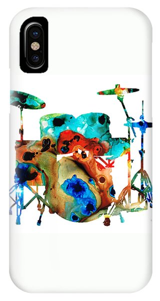 Drum iPhone Case - The Drums - Music Art By Sharon Cummings by Sharon Cummings