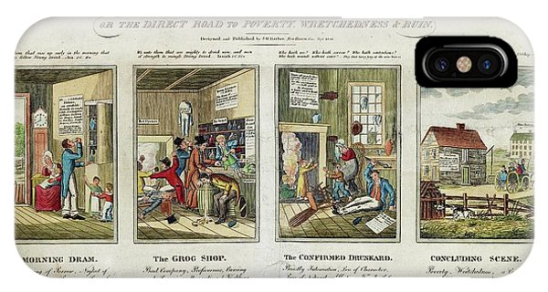 Alcoholism iPhone Case - The Drunkard's Progress by Library Of Congress