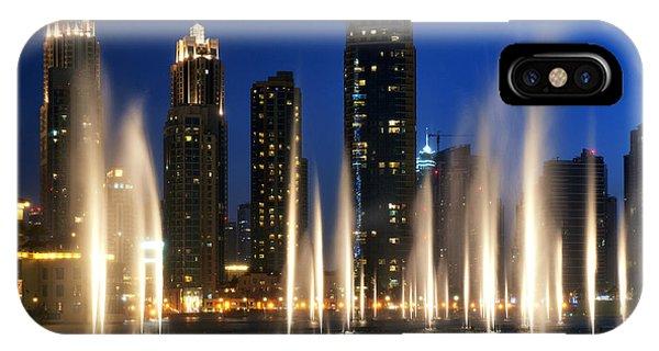The Dubai Fountains IPhone Case