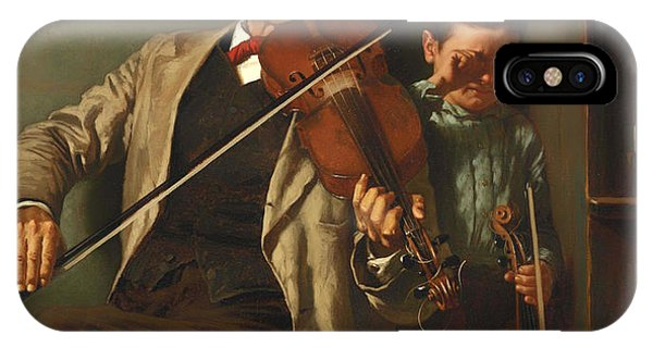 Violin iPhone X / XS Case - The Duet by Mountain Dreams