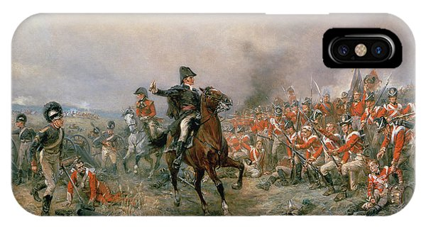 Cavalry iPhone Case - The Duke Of Wellington At Waterloo by Robert Alexander Hillingford