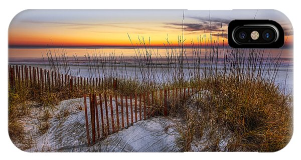 Tidal iPhone Case - The Dunes At Sunset by Debra and Dave Vanderlaan