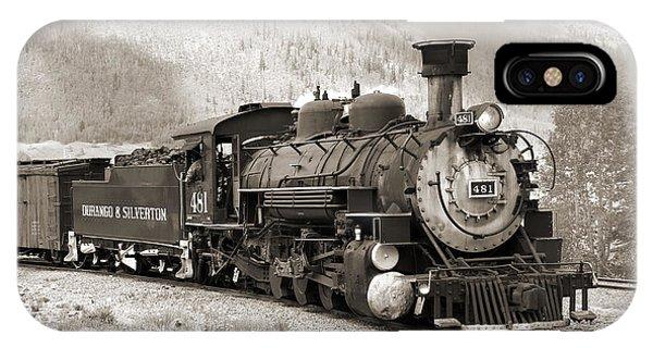 Passenger Train iPhone Case - The Durango And Silverton by Mike McGlothlen
