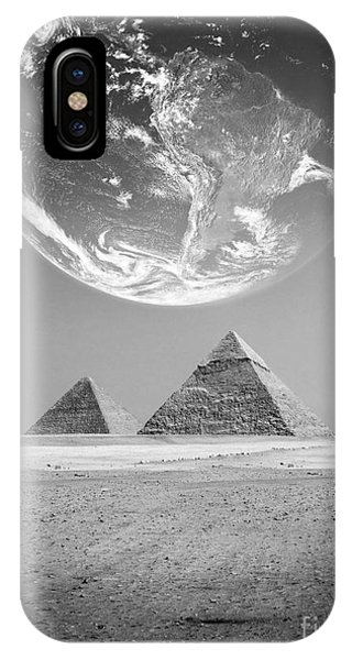 The Earth With Egyptian Pyramids  IPhone Case