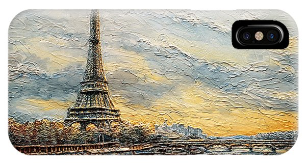 The Eiffel Tower- From The River Seine IPhone Case