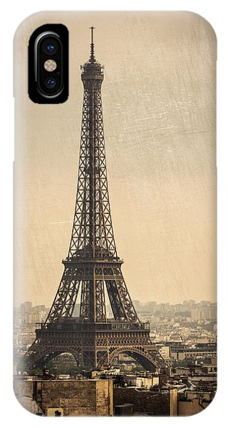 The Eiffel Tower In Paris France IPhone Case