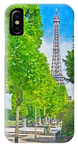 The Eiffel Tower In The Spring Of 2014 IPhone Case