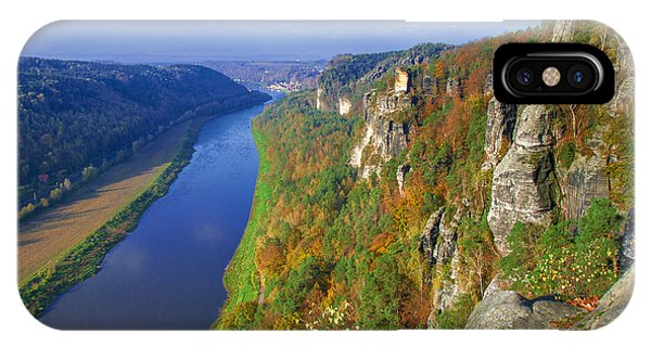 The Elbe Sandstone Mountains Along The Elbe River IPhone Case