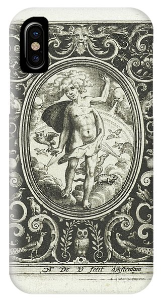 The Element Of Air As A Young Man Standing On Clouds Phone Case by Nicolaes De Bruyn