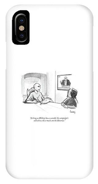 Hillary Clinton iPhone Case - The Emails Are His Horcrux by Benjamin Schwartz
