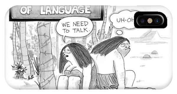 The Emergence Of Language Cave Woman: 'we Need IPhone Case