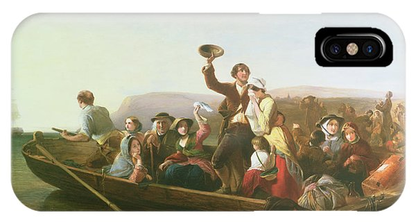 Departure iPhone Case - The Emigrants by Thomas Falcon Marshall