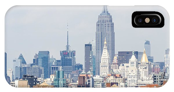 The Empire State Building From The Brooklyn Bridge IPhone Case