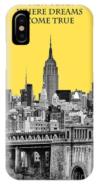 Yellow iPhone Case - The Empire State Building Pantone Yellow by John Farnan