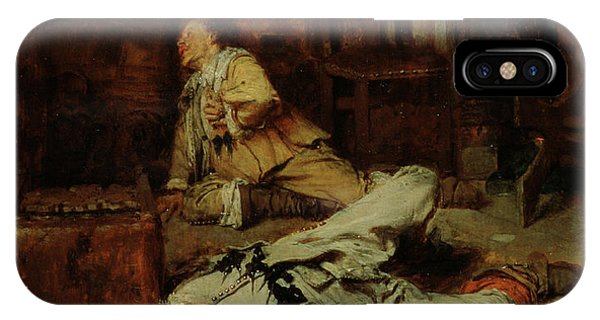 Debts iPhone Case - The End Of The Game Of Cards by Jean Louis Ernest Meissonier