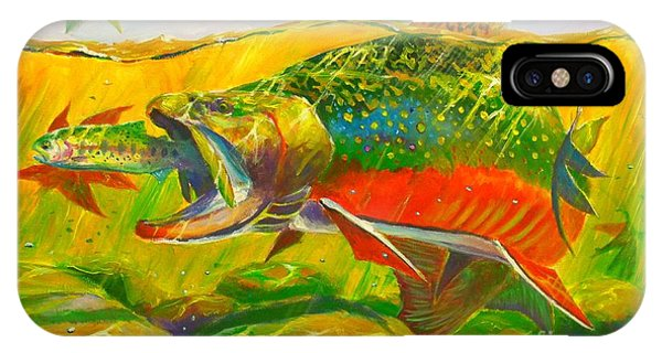 Trout iPhone Case - The End Of The Rainbow  by Yusniel Santos