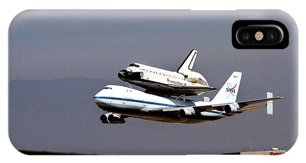 The Endeavor And Her 747 Final Landing At Lax IPhone Case