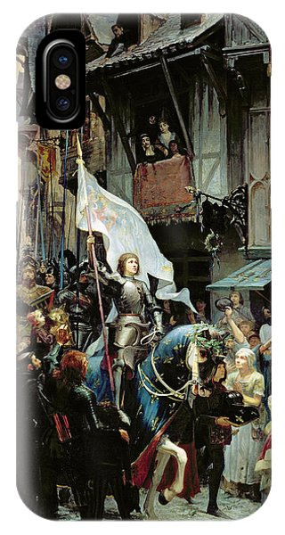English Village iPhone Case - The Entrance Of Joan Of Arc Into Orleans by Jean-Jacques Scherrer