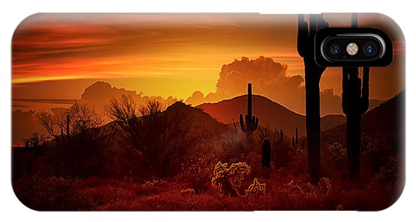 Skyscape iPhone Case - The Essence Of The Southwest by Saija  Lehtonen