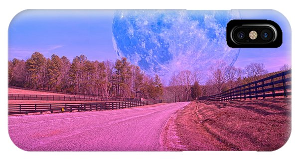 Super Moon iPhone Case - The Evening Begins by Betsy Knapp