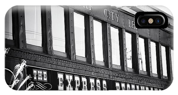 The Express Restaurant Black And White IPhone Case