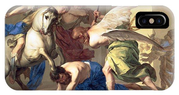Debts iPhone Case - The Expulsion Of Heliodorus From The Temple by Bernardo Cavallino