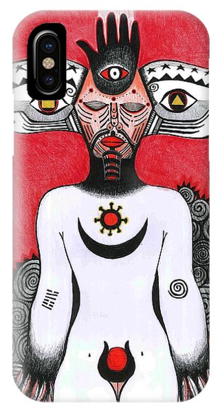 Imposing iPhone Case - The Eye, 2012 Pen, Ink And Colour Pencils On Paper by Zanara/ Sabina Nedelcheva-Williams