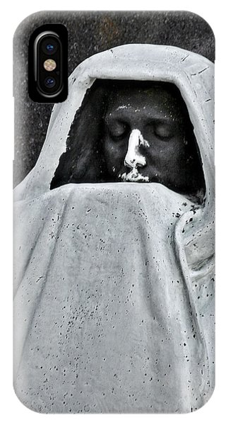 Ghastly iPhone Case - The Face Of Death - Graceland Cemetery Chicago by Christine Till
