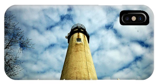 The Fenwick Light And A Mackerel Sky IPhone Case
