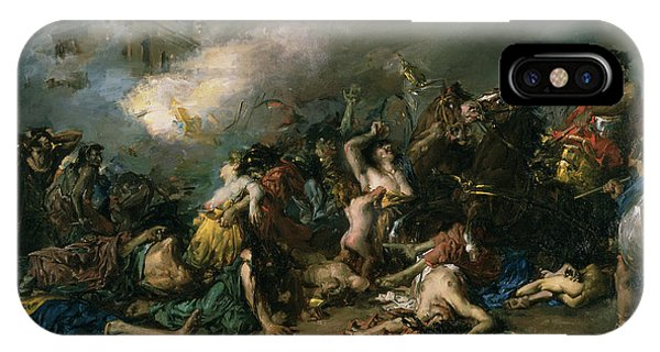 Anguish iPhone Case - The Final Day Of Sagunto In 219bc, 1869 Oil On Canvas by Francisco Domingo Marques
