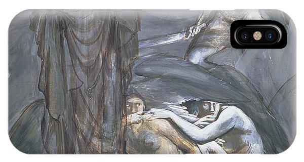 Gorgon iPhone Case - The Finding Of Medusa, C.1876 by Sir Edward Coley Burne-Jones