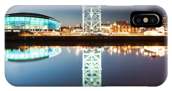 Beautiful Scotland iPhone Case - The Finnieston Crane And Hydro Green by John Farnan