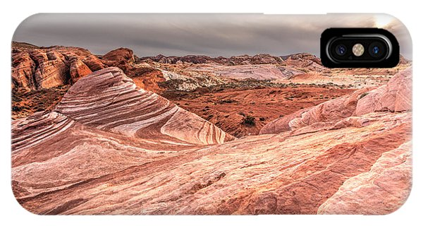 Valley Of Fire iPhone Case - The Fire Wave by Peter Tellone