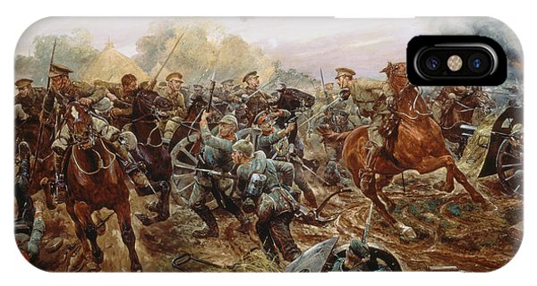 Bravery iPhone Case - The First Vc Of The European War, 1914 by Richard Caton II Woodville