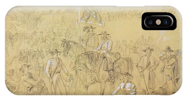 1862 iPhone Case - The First Virginia Cavalry At A Halt by Alfred R Waud