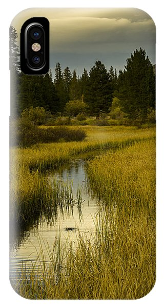 The Fish Are Biting At Rock Creek IPhone Case