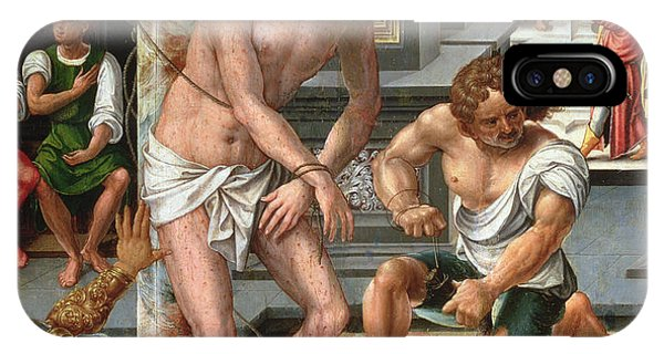 Messiah iPhone Case - The Flagellation by Pieter van Aelst