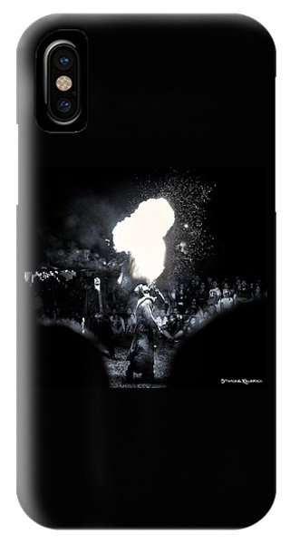 IPhone Case featuring the photograph The Flare Thrower by Stwayne Keubrick