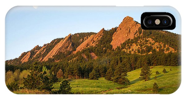 The Flatirons - Spring IPhone Case