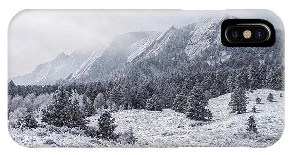 The Flatirons - Winter IPhone Case