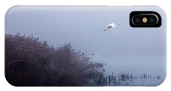 The Flight Of The Egret IPhone Case