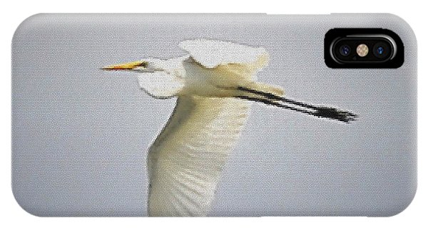 The Flight Of The Great Egret With The Stained Glass Look IPhone Case