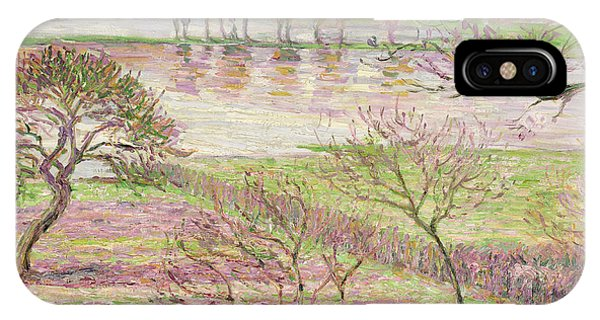 Impressionism iPhone X Case - The Flood At Eragny by Camille Pissarro