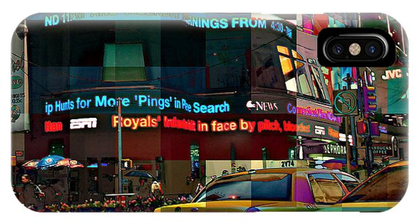 The Fluidity Of Light - Times Square IPhone Case