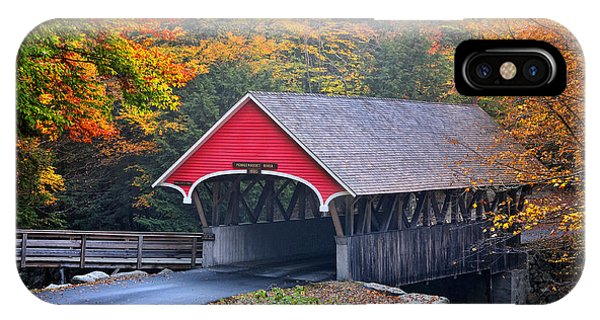 New Hampshire iPhone Case - The Flume Covered Bridge by T-S Fine Art Landscape Photography